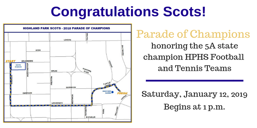 Parade of Champions map