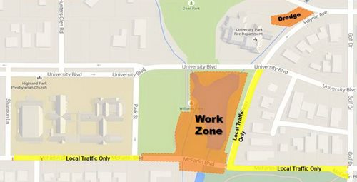 work zone map