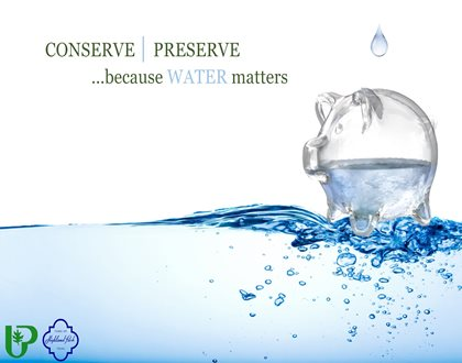 conserve and preserve because water matters
