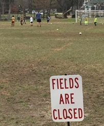 closed field sign in university park