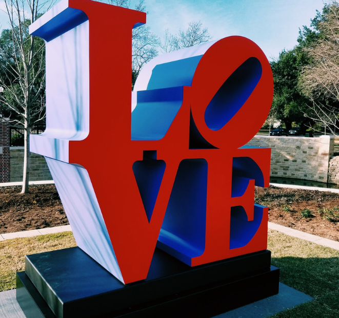 LOVE sculpture in Williams Park